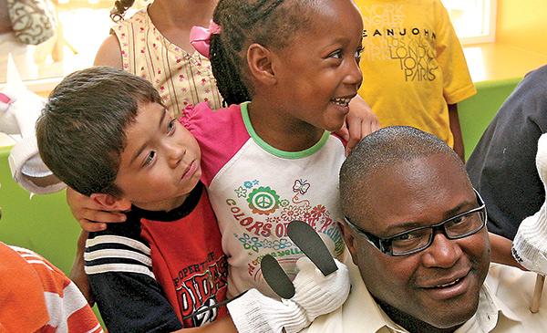 Pre-k kids with teacher